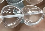 CNC729 15.5 inches 14*14mm heart white crystal beads wholesale