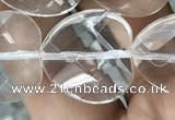 CNC740 15.5 inches 18*18mm faceted heart white crystal beads