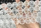 CNC856 15.5 inches 18mm faceted round white crystal beads