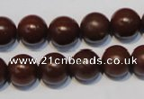 CNE14 15.5 inches 16mm round red stone needle beads wholesale