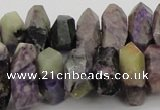 CNG1029 15.5 inches 10*14mm - 15*20mm faceted nuggets charoite beads