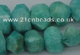 CNG1072 15.5 inches 13*18mm - 15*20mm faceted nuggets amazonite beads