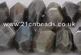 CNG1073 15.5 inches 12*16mm - 15*20mm faceted nuggets labradorite beads