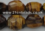 CNG1094 15*20mm - 18*25mm faceted nuggets yellow tiger eye beads