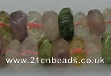CNG1182 15.5 inches 6*14mm - 8*14mm nuggets mixed quartz beads