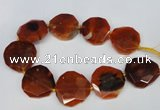 CNG1341 15.5 inches 42*45mm faceted freeform agate beads