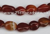 CNG14 15.5 inches 9*14mm nuggets red agate gemstone beads