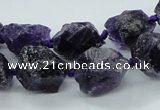 CNG1545 15.5 inches 10*14mm - 12*16mm nuggets amethyst beads