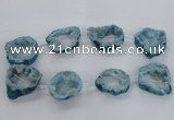 CNG1589 15.5 inches 30*35mm - 35*40mm freeform plated druzy agate beads
