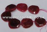 CNG1605 15.5 inches 45*50mm faceted freeform agate beads