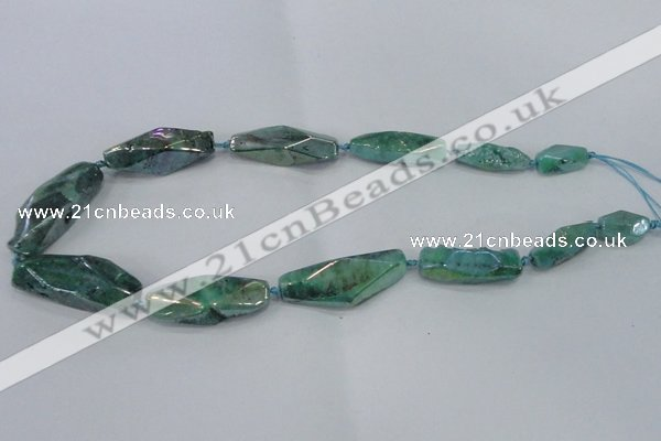CNG2009 15.5 inches 10*14mm - 12*38mm nuggets plated quartz beads
