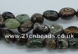 CNG201 15.5 inches 8*10mm nuggets rainbow agate gemstone beads