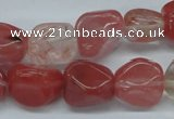 CNG205 15.5 inches 12-4mm*16-18mm nuggets cherry quartz beads
