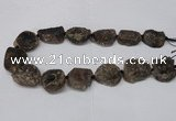 CNG2130 15.5 inches 18*25mm - 25*30mm nuggets druzy agate beads