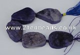CNG2136 7.5 inches 25*30mm - 30*35mm freeform agate beads