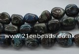 CNG221 15.5 inches 8*10mm nuggets stripe jasper gemstone beads