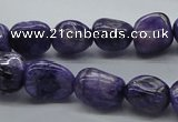 CNG225 15.5 inches 10*12mm nuggets dyed dogtooth amethyst beads