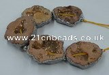 CNG2326 7.5 inches 35*40mm - 45*50mm freeform druzy agate beads