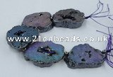 CNG2331 7.5 inches 35*40mm - 45*50mm freeform druzy agate beads