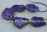 CNG2340 7.5 inches 40*50mm - 55*60mm freeform druzy agate beads
