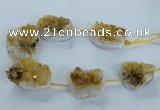 CNG2436 15.5 inches 20*25mm - 30*35mm nuggets druzy citrine beads