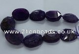 CNG2648 15.5 inches 30*38mm - 40*50mm freeform agate beads