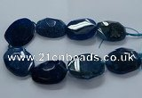 CNG2650 15.5 inches 30*38mm - 40*50mm freeform agate beads