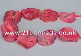 CNG2675 15.5 inches 30*40mm - 40*50mm freeform druzy agate beads