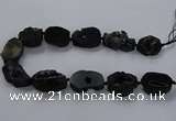 CNG2685 15.5 inches 25*30mm - 30*40mm freeform druzy agate beads