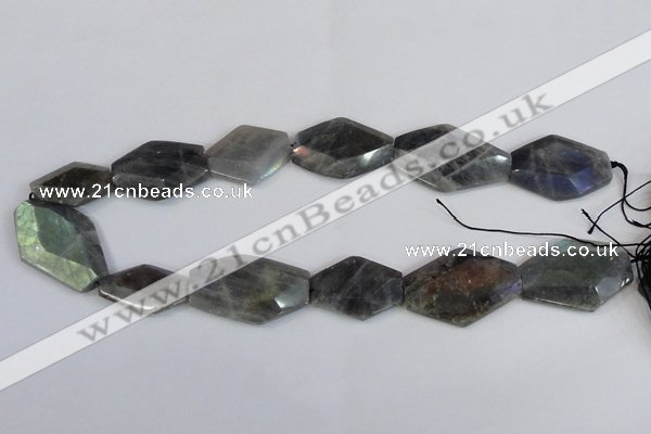 CNG2712 15.5 inches 18*25mm - 25*35mm freeform labradorite beads