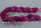CNG2733 15.5 inches 15*30mm - 20*40mm nuggets agate beads