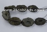 CNG2817 15.5 inches 30*45mm - 40*55mm freeform druzy agate beads
