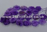 CNG2850 15.5 inches 30*40mm - 45*50mm freeform druzy agate beads