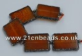 CNG2921 7.5 inches 35*45mm rectangle agate gemstone beads wholesale