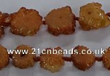 CNG2936 15.5 inches 8*10mm - 15*18mm freeform plated druzy agate beads