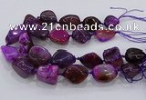 CNG3047 25*30mm - 30*40mm nuggets agate gemstone beads