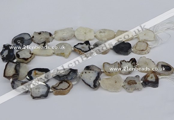 CNG3167 15.5 inches 15*20mm - 25*30mm freeform druzy agate beads