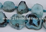 CNG3170 15.5 inches 15*20mm - 25*30mm freeform druzy agate beads