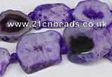 CNG3173 15.5 inches 15*20mm - 25*30mm freeform druzy agate beads