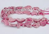 CNG3376 20*30mm - 30*45mm freeform plated druzy agate beads