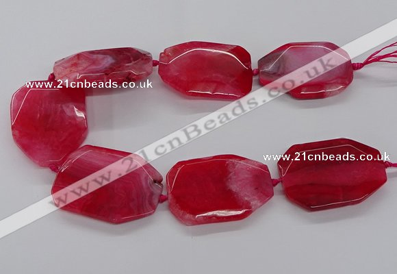 CNG3411 15.5 inches 38*50mm - 40*55mm faceted freeform agate beads