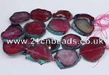 CNG3462 15.5 inches 35*40mm - 45*55mm freeform agate beads
