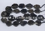 CNG3488 30*35mm - 35*45mm freeform chrysanthemum agate beads