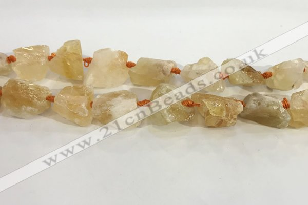 CNG3563 15.5 inches 18*20mm - 25*30mm nuggets rough citrine beads