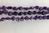 CNG3581 15.5 inches 8*10mm - 10*12mm nuggets amethyst beads