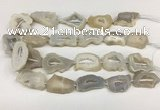 CNG3635 15.5 inches 22*30mm - 30*40mm freeform druzy agate beads