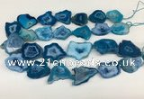 CNG3641 15.5 inches 22*30mm - 30*40mm freeform druzy agate beads