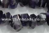 CNG367 15.5 inches 10*20mm faceted nuggets amethyst beads