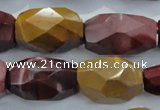 CNG371 15.5 inches 20*25mm faceted nuggets mookaite beads