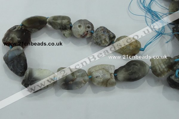CNG436 15.5 inches 20*25mm – 28*40mm nuggets Botswana agate beads